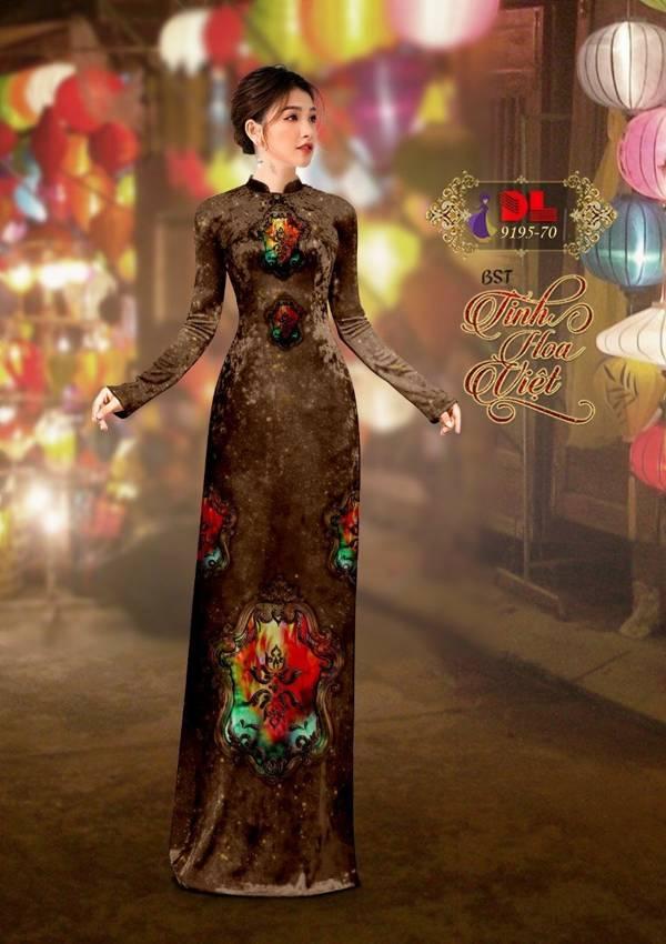 Vải Áo Dài Nhung 3D Độc Đáo AD DL 9195 1