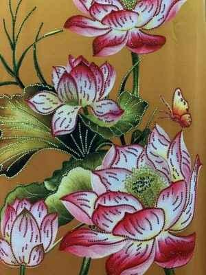 Vải Áo Dài Nhung In Hoa Sen Đinh Đá AD NhungHoaSen 42