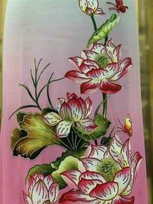 Vải Áo Dài Nhung In Hoa Sen Đinh Đá AD NhungHoaSen 41