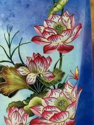 Vải Áo Dài Nhung In Hoa Sen Đinh Đá AD NhungHoaSen 38
