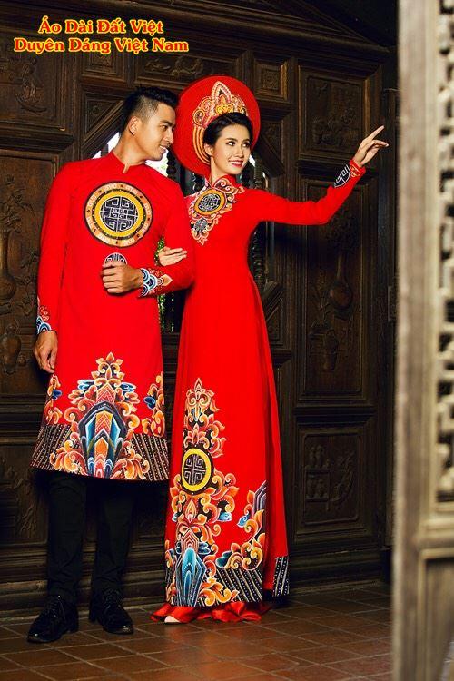 áo dài cặp đôi sang trọng