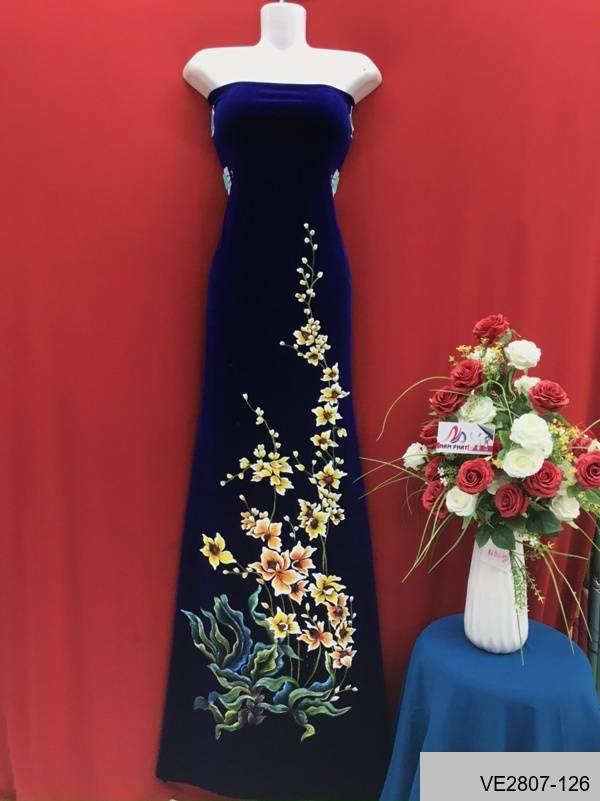 Vải Áo Dài Thái Tuấn Vẽ Hoa AD VE2807_126 3