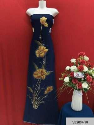 Vải Áo Dài Thái Tuấn Vẽ Hoa AD VE2807_98 2