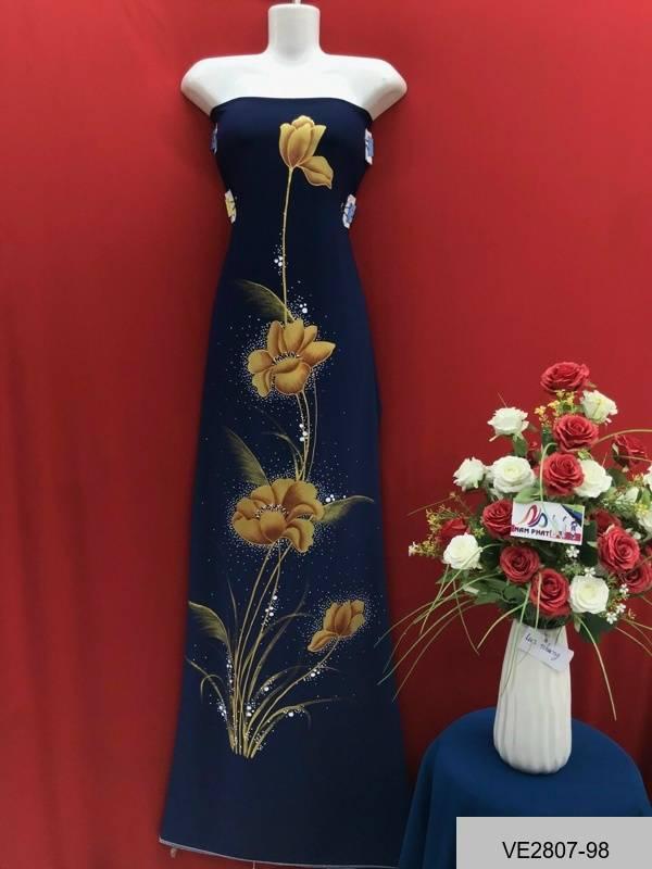 Vải Áo Dài Thái Tuấn Vẽ Hoa AD VE2807_98 1