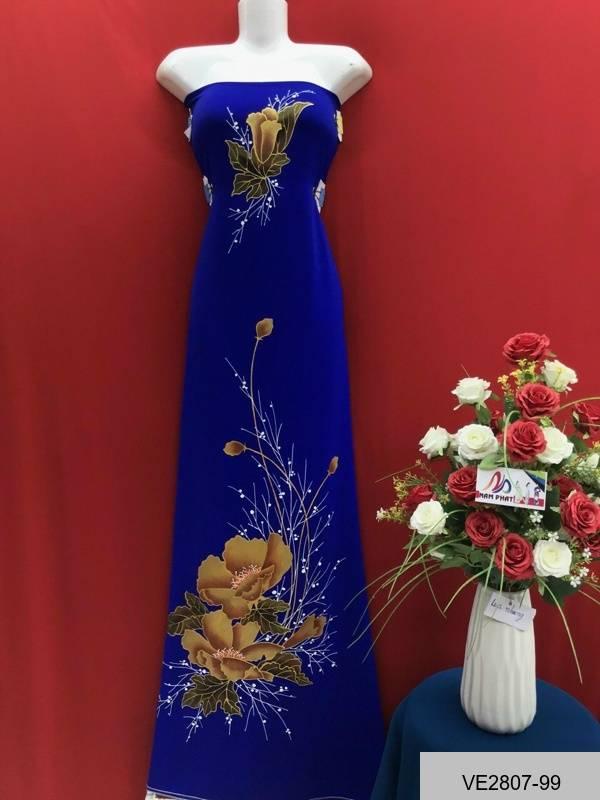 Vải Áo Dài Thái Tuấn Vẽ Hoa AD VE2807_99 1